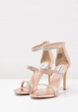 Steve Madden SMOKIN High heeled sandals ~ rose gold party heels