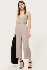 TOPSHOP Strappy Satin Jumpsuit Dusky Lilac ~ silky evening jumpsuits