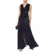 Talbot Runhof Koro7 Lurex Gown ~ shimmering navy gowns