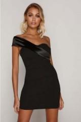 TAMMY HEMBROW BLACK ASYMMETRIC NECK DRESS ~ lbd