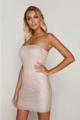 TAMMY HEMBROW NUDE OMBRE MESH BANDEAU DRESS ~ strapless party dresses