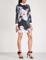 TED BAKER Kaleesa Chelsea floral-print jersey mini dress – evening dresses – bold prints
