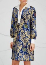TORY BURCH Thelma foil-print velvet dress – beautiful floral prints