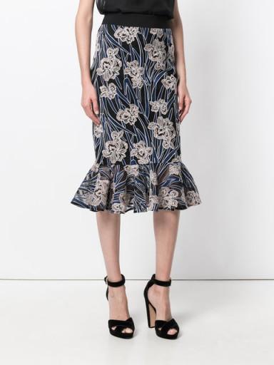 THREE FLOOR Valentina floral mermaid skirt / ruffle hem skirts