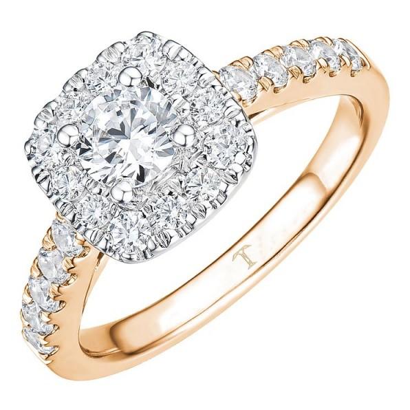 Tolkowsky 18ct Rose Gold 1ct Cushion Halo Diamond Ring ~ beautiful engagement rings ~ diamonds