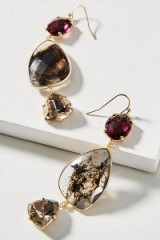 ANTHROPOLOGIE Triumverate Drop Earrings / statement accessories / party jewellery