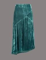 AUTOGRAPH Velvet A-Line Midi Skirt | petrol-blue asymmetric skirts
