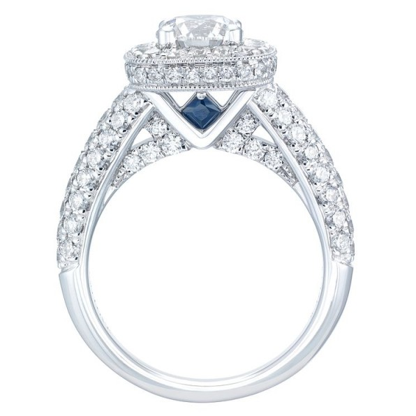Vera Wang 18ct White Gold 2.45ct Diamond Cushion Halo Ring ~ bling engagement rings ~ diamonds ~ stunning jewellery