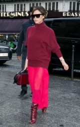 Victoria Beckham red tonal outfit / stylish women