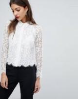 Whistles Suzie Lace Shirt ~ semi sheer sleeved shirts