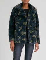 ZADIG & VOLTAIRE Miles faux-fur coat – animal print winter coats