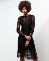 JIGSAW A – LACE OVERLAY DRESS / semi sheer party dresses
