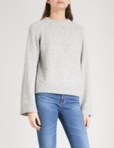 AG The Noelle knitted jumper ~ grey chunky knit jumpers