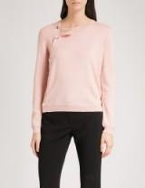 ALTUZARRA Minamoto button-detail merino wool sweater ~ blossom-pink sweaters ~ luxe knitwear