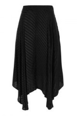 Topshop Asymmetric Self Jacquard Midi Skirt
