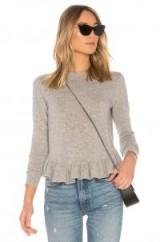Autumn Cashmere RUFFLE SWEATER | ruffled hem sweaters