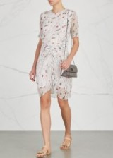 ISABEL MARANT ÉTOILE Barden printed silk chiffon dress ~ feminine crinkle dresses
