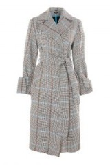Topshop Checked Belted Coat / stylish check print coats