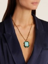 CERCLE AMEDEE Big Croix Legion of Honour turquoise-blue necklace