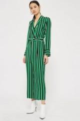 Topshop Bold Striped Jumpsuit | green stripe jumpsuits