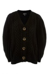 Topshop Cable Knit Cardigan | chunky black cardigans