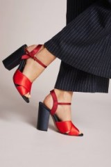 Capsule Collective International Wilhemina Heels / red chunky heeled sandals