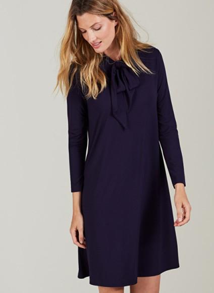 CARINE MATERNITY DRESS ISABELLA OLIVER CARINE MATERNITY DRESS – navy blue pregnancy dresses