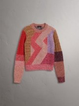 Burberry Cashmere-wool Mouliné Patchwork Sweater / multicoloured sweaters