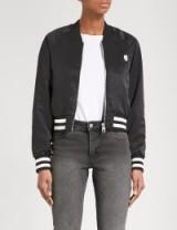 CHEAP MONDAY Heart satin bomber jacket ~ silky black jackets ~ casual style