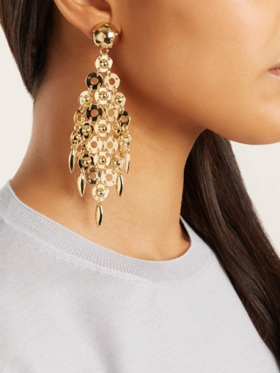 PRADA Circle-link earrings ~ gold tone designer jewellery ~ statement accessories