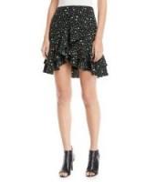 Club Monaco Ampey Floral-Print Mini Skirt   asymmetric ruffle hem skirts