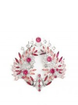 GIVENCHY Clear and Pink Crystal-embellished brooch – large bling brooches – designer jewellery