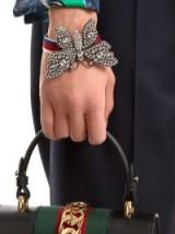 GUCCI Crystal-embellished butterfly bracelet ~ statement bracelets ~ butterflies