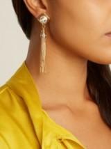 PRADA Crystal-embellished tassel earrings ~ cocktail jewellery