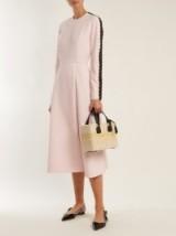 EMILIA WICKSTEAD Dionne macramé-trimmed crepe dress ~ pale pink A-line skirt dresses