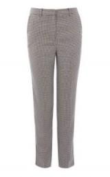 WAREHOUSE DOGSTOOTH SLIM LEG TROUSERS / check print pants
