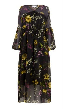 WAREHOUSE DUTCH FLORAL MIDI DRESS / flower printed dresses - flipped
