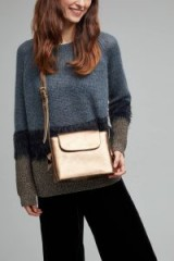 Anthropologie Elia Leather Box Bag in gold / metallic cross body bags
