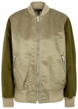 RAG & BONE Elle shell and wool bomber jacket ~ casual luxe jackets