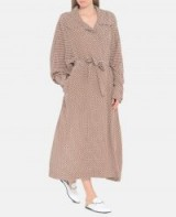 STELLA McCARTNEY Emily Tie Print Silk Coat ~ fluid belted coats
