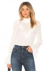 Endless Rose EYELET BLOUSE | white ruffled high neck blouses