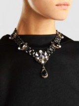 ERICKSON BEAMON‎ Dark Shadows Necklace ~ crystal and pearl statement necklaces