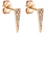 EVA FEHREN Fringe Stud Earrings – small pave diamond studs