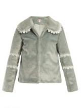 SHRIMPS Ezra lace-trimmed faux-fur coat ~ winter luxe jackets