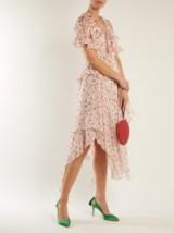 PREEN BY THORNTON BREGAZZI Flora Peony-print silk-chiffon dress ~ feminine pink dresses