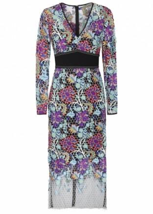 DIANE VON FURSTENBERG Floral guipure lace dress