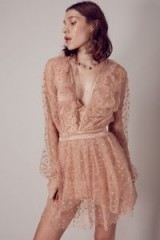$178.00 FOR LOVE & LEMONS ALL THAT GLITTERS MINI DRESS