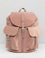 Herschel Dawson Pink Velvet Backpack | luxe backpacks