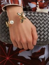 ERDEM Insect crystal-embellished cuff ~ statement jewellery ~ beautiful bracelets ~ luxe accessory