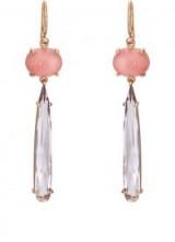 IRENE NEUWIRTH pink opal and Rose de France amethyst Drop Earrings